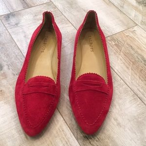 Worn Once! Red Talbots Loafers Size 7